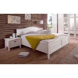 Bett 180 X 200 Cm Mit Nako-Set Pinie Teilmassiv Weiss Gebürstet Telmex Casa Pinie Weiß Holz Landhaus