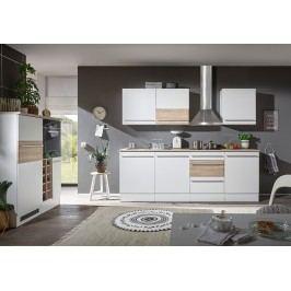 Küchenzeile Küchenblock Weiss Matt/ Sonoma Eiche Mit Elektroset Bega Big Weiß Holz Modern