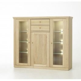 Highboard Eiche Bianco Teilmassiv Mca-Furniture Anorev Holz Modern