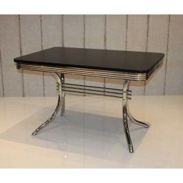 Bistrotisch Silber / Schwarz Top Form 6 Gnik Stahl Stylisch