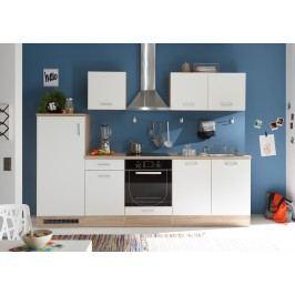 Küchenzeile Küchenblock Weiss/ Sonoma Eiche Mit Elektrogeräten Bega Andy Weiß Holz Modern