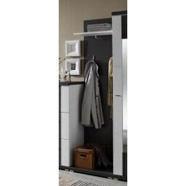 Garderobenpaneel Graphit Geschroptt/ Weiss Ideal Möbel Manhattan Grau Melamin Modern