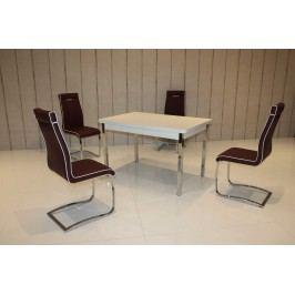 Tischgruppe Weiss/ Marsala Top Form 2 Asil Weiß Holz