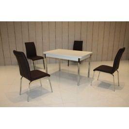 Tischgruppe Weiss/ Schwarz Top Form 2 Annes Weiß Holzwerkstoffe Modern