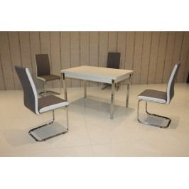 Tischgruppe Weiss/ Braun-Weiss Top Form 2 Assiral Weiß Holz