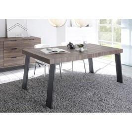 Esstisch 188 X 88 Cm Nussbaum Nachbildung/ Metallfüsse Classico Palma Holz Modern