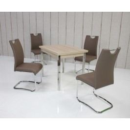 Tischgruppe Eiche Sonoma/ Cappuccino Top Form 5 Aral Eiche Sonoma Sägerau Holz
