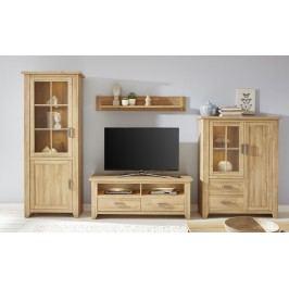 Wohnzimmerset 4-Tlg. In Alteiche Trendteam Canyon Holz Modern