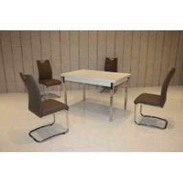 Tischgruppe Weiss/ Cappucino Top Form 2 Aral Weiß Holz