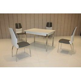 Tischgruppe Weiss/ Grau-Weiss Top Form 2 Alrac Weiß Holz