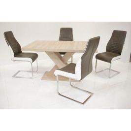 Tischgruppe Eiche Sonoma/ Sepia-Braun Top Form 5 Ailec Eiche Sonoma Sägerau Holz