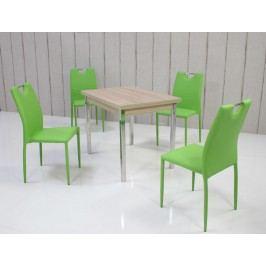 Tischgruppe Eiche Sonoma/ Mintgrün Top Form 5 Ainex Holzwerkstoffe Stylisch