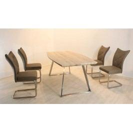 Tischgruppe Canyon Oak/ Cappuccino Top Form Sam/ Sierra Holz
