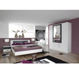 Schlafzimmer Kompletttset In Alpinweiss / Grau-Metallic Rauch Packs Burano Weiß Modern