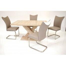 Tischgruppe Eiche Sonoma/ Cappuccino-Weiss Top Form Andre So/ Solea Eiche Sonoma Sägerau Holz