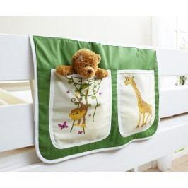 Bett-Tasche Für Hoch- Und Etagenbetten ´´safari´´ Mvh-Ticaa Grün Baumwolle Modern