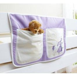 Bett-Tasche Für Hoch- Und Etagenbetten ´´horse (lila)´´ Mvh-Ticaa Baumwolle Modern