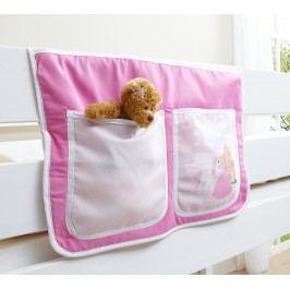 Bett-Tasche Für Hoch- Und Etagenbetten ´´horse (pink)´´ Mvh-Ticaa Rosa Baumwolle Modern