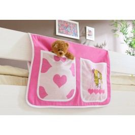 Bett-Tasche Für Hoch- Und Etagenbetten ´´prinzessin Cindy´´ Mvh-Ticaa Rosa Baumwolle Modern