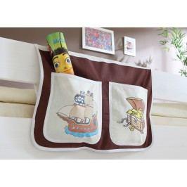 Bett-Tasche Für Hoch- Und Etagenbetten ´´pirat Braun-Beige´´ Mvh-Ticaa Baumwolle Modern