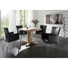 Esstisch Rund 160 Cm Balkeneiche Massiv Räucheröl Finish Sit-Möbel Milano Modern