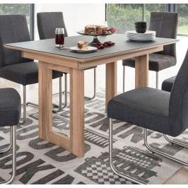 Esstisch 130 X 90 Eiche Bianco Massiv / Tischplatte Glas Grau Standard Furniture Komforto Holz Modern