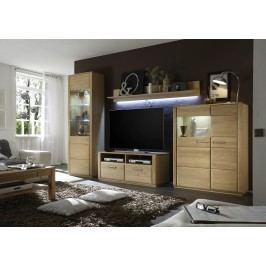 Wohnwand Eiche Bianco Teilmassiv Mca-Furniture Anesa Holz Neutral