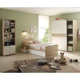 Jugendzimmer Mit Bett 90 X 200 Cm Eiche Sonoma/ Weiss Polpower Wiki Modern