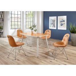 Tischgruppe Braun/ Weiss Top Form Pep 2/ Anja Mandarin Polyurethan