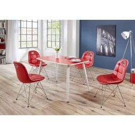 Tischgruppe Rot/ Weiss Top Form Pep 2/ Anja Kunststoff Klassisch