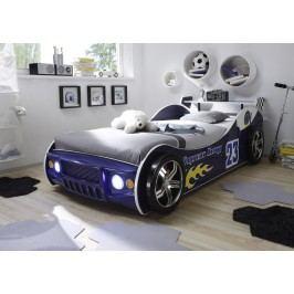 Autobett 90 X 200 Cm Blau Glänzend Lackiert Polpower Energy Mdf Modern
