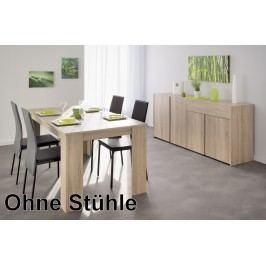 Esstisch 160 X 88 Cm Mit Sideboard Sonoma Eiche Parisot Karan Modern