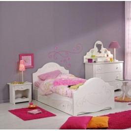Kinderzimmer Mit Bett 90 X 200 Cm Weiss Tiefgezogen Lackiert Parisot Alice Weiß Mdf Modern