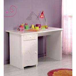Schreibtisch Weiss Tiefgezogen Lackiert Parisot Alice Weiß Mdf Modern