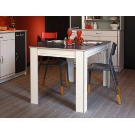 Esstisch Weiss Melamin/ Alu Melamin Parisot Bistrot Weiß Holz Modern
