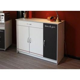 Küchenzeile Weiss Melamin/ Alu Melamin Parisot Bistrot Weiß Modern