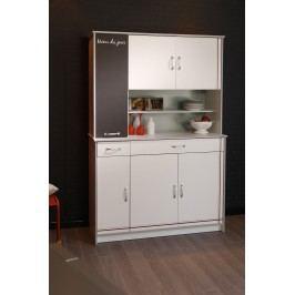 Küchenzeile Weiss Melamin/ Alu Melamin Parisot Bistrot Weiß Holz Modern