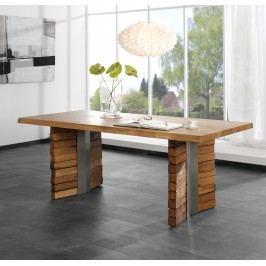 Wangen-Esstisch 180 X 100 Cm Wildeiche Massiv Geölt Henke Direkt Altholz Stahl Modern