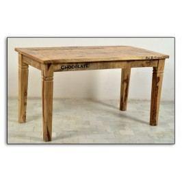 Esstisch 140 X 70 Cm Aus Lackiertem Mangoholz Mit Antikfinish Sit-Möbel Rustic Kolonial