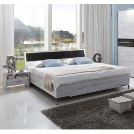 Bett 180 X 200 Cm Mit Nako Set Weisseiche/ Glas Grau Wimex Acapulco Holz Modern
