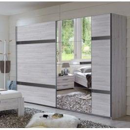 Kleiderschrank Weisseiche/ Hochglanz Grau Wimex Nizza Modern