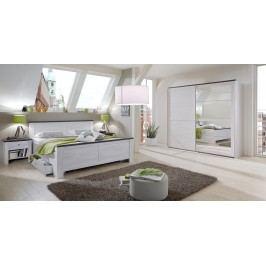 Schlafzimmer Mit Bett 180 X 200 Cm Weisseiche/ Lavafarbig Wimex Chateau Weißeiche Holz Modern