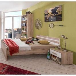 Jugendzimmer Mit Bett 90 X 200 Cm Alpinweiss/ Eiche Sanremo Wimex Cariba Modern
