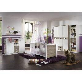 Babyzimmer Mit Bett 70 X 140 Cm Alpinweiss/ Eiche Sägerau Wimex Jette Weiß Holz Modern