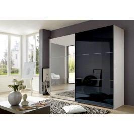 Schweber Alpinweiss/ Glas Schwarz/ Spiegel Wimex Match Up Modern