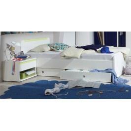 Bett 90 X 200 Mit Nako Alpinweiss/ Apfelgrün Wimex Bibi Holz Modern