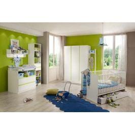Babyzimmer Mit Bett 70 X 140 Cm Alpinweiss/ Apfelgrün Wimex Bibi Modern