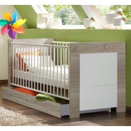 Babybett 70 X 140 Cm Alpinweiss/ Eiche Sägerau Wimex Kira Holz Modern