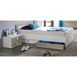 Bett 90 X 200 Cm Mit Nako-Set Alpinweiss/ Eiche Sägerau Wimex Kira Holz Modern