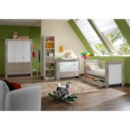 Babyzimmer Mit Bett 70 X 140 Cm Alpinweiss/ Eiche Sägerau Wimex Kira Holz Modern